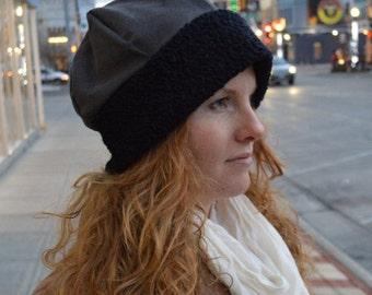 du Bonne' - Hat, Slouch, Limited Edition, Warm, Seasonal Wear, Unique, Durable, Reversible, Sophisticated, Upcycled, Feminine, Cotton