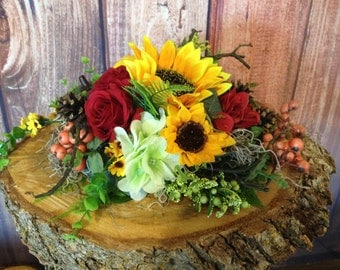 Fall special!!! Rustic floral arrangement, yellow floral arrangement, fall decor