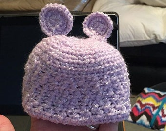 Hat with matching booties