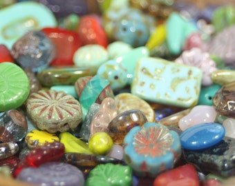 Czech Glass Bead Mix, Misc. Loose Beads