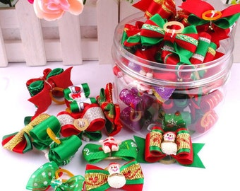 Christmas Hair Bow accessory for pet dog cat