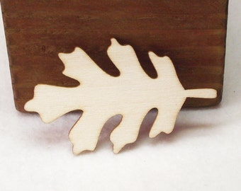 Natural Unfinished Wood Laser Cut Red Oak Leaves For Wood Crafts, Signs Etc.