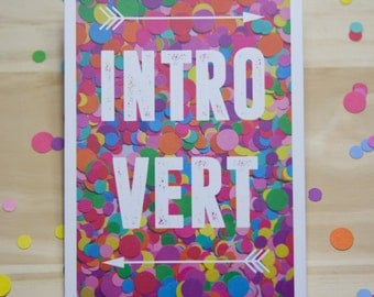 Introvert Print in White