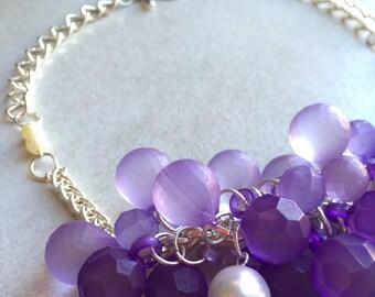 Purple Bubble Bead Necklace
