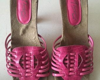 Pink huarache style sandals 6, women's size 6