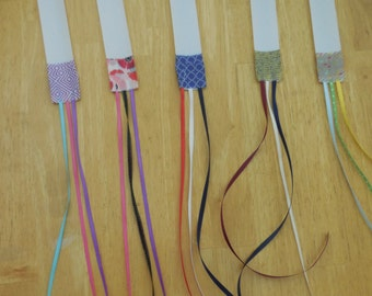 5-pack of Bible Ribbon page markers