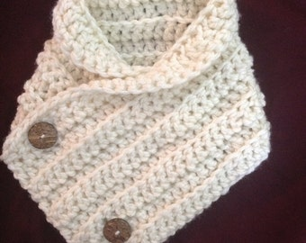 Children's button neckwarmer