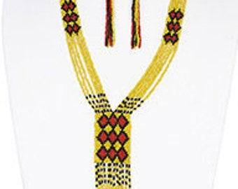 TRIBAL NECKLACE/EARRINGS Set~