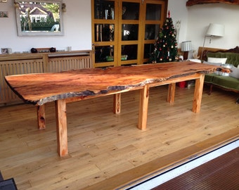 Beautiful huge Yew dining table with raw edges