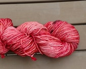 Yarn, DK Yarn, Hand Dyed Yarn, Red Yarn, Superwash Merino Wool