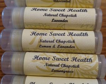 Natural Beeswax Chapstick-Aromatherapy