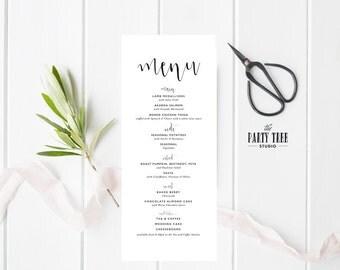 Printable Wedding Menu , Wedding Menu Printable , Wedding Decor , Wedding Menu , Wedding Menu Card