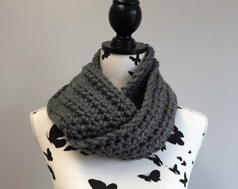 Handmade Chunky Crochet Cowl / Infinity Scarf - choice of colours