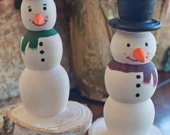 Birch Bark Snowmen- set of 2