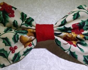 Hair Bow - Bells & Holly