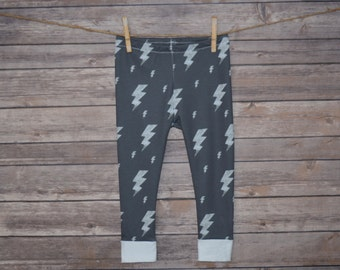 SALE* Baby Leggings, Toddler Leggings - Lightning Bolts