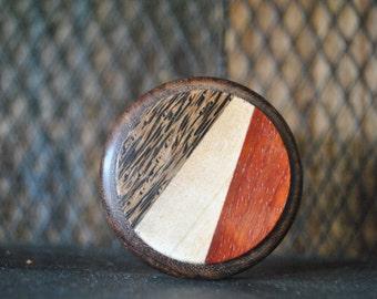 """Carved Herb Grinder 2"""" Solid Wood"""