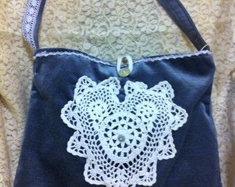 shoulder bag handmade cloth purse fabric pocketbook