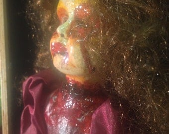 CRUELLA CURLS  -  from the Dolls of the Demonic     *authentic, OOAK horror, highly collectible.
