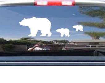 Bear decal   cubs decal   wildlife   bears
