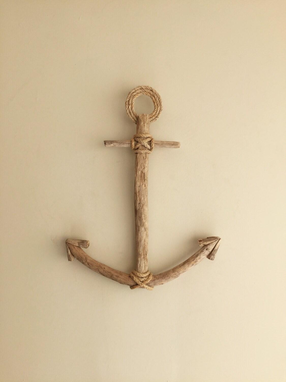 Driftwood anchor anchor wall decor anchor beach decor for Driftwood wall decor