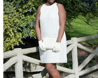Wedding dress, modern wedding dress to a wedding like no other, ivory dress, made in Paris, only one size EU 48