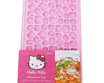 Hello Kitty Silicone Mold Ice Tray - Silicone Moud - Moule en Silicone - Ice Cube Form - Small Ices