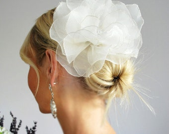Silk Organza Flower Hairpin