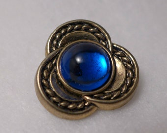 5 buttons - royal blue - 25mm