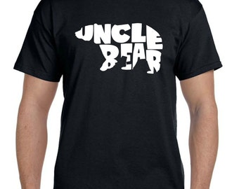 Uncle Bear shirt, Uncle Gift, Gift for Uncle Brother Bear Shirt Brother Gift, New dad shirt new daddy gift, papa bear boyfriend gift (T 123)