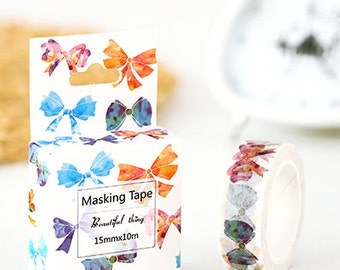 Colorful bow tie - Washi Tape, Masking Tape, Planner Stickers