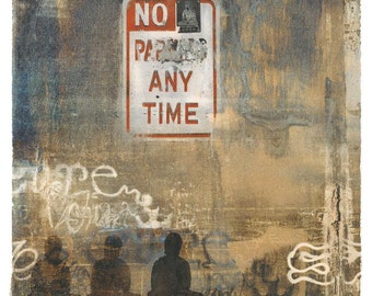 Banksy Was Not Here, transfer print