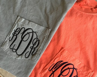 Comfort Colors Monogrammed T-Shirts