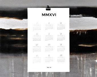 MMXVI Wall Calendar | FOLI + LO