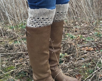 Womens and Girls Classic Boot Cuffs - Available in many sizes in Classic and Lattice Stitch, Quality 100% Wool