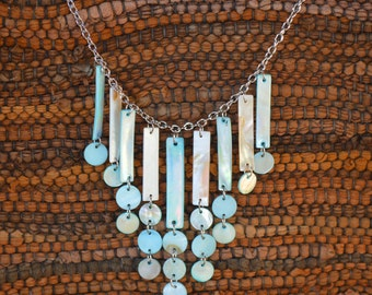 Turquoise Shell Mother of Pearl Necklace