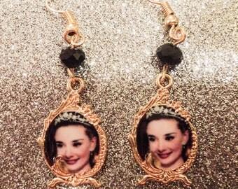 Audrey Hepburn Charm Earrings
