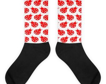 Ladybug Socks - Lady Bug Costume - Custom Socks - Bug Socks - Animal Socks - Socks - Themed Socks