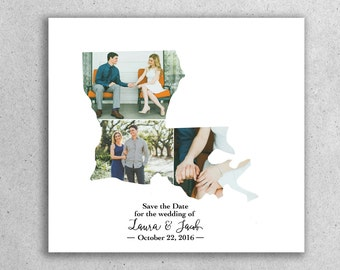 State Save the Date - Custom Your State Save the Date Design, Print or Download Photo Save the Date