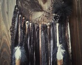 Black Gold Dream catcher - glamour Dreamcatcher - bohemian -  gifts for teens - hippie room decor - gypsy - gift for her - wall hanging -