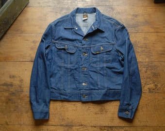 Vintage Deadstock 70's Indigo Denim Lee Riders Jacket Made in the USA 820-0041 44R