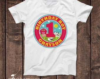 Barnyard Birthday Shirt - Personalized Barnyard Birthday Outfit - Custom Barnyard 1st Birthday Shirt - Farm 1st Birthday Shirt - Farm Party