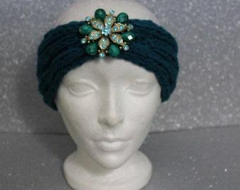 Satin Lined Jewel Headband