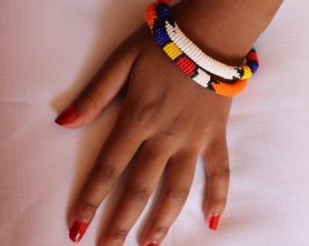 roll-up zulu beaded bracelet