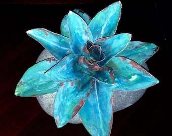 Copper Lotus Flower