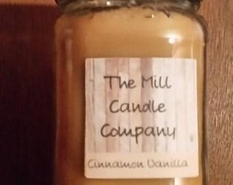 16 oz Soy Candle Cinnamon Vanilla