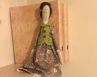 Handmade Tilda doll Caroline for your home decor or as a unique gift