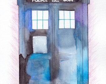 Galaxy-style TARDIS A5 Print