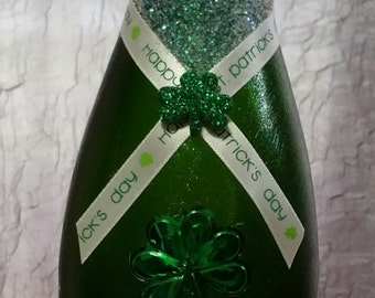 St. Patrick's Day decorated bottle