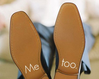 Mens Wedding Shoe Decal Sticker